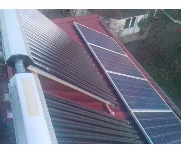 Автономная солнечная электростанция и система горячего водоснабжения Червоный хутор - ОДЕССА