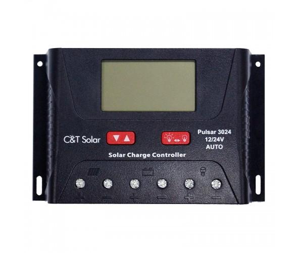 Контроллер заряда C&T Solar Pulsar 3024 с USB-зарядкой - ОДЕССА